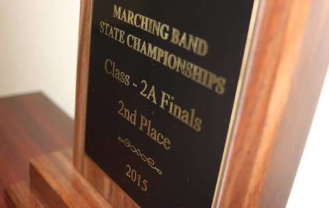 2nd place trophy for marching band