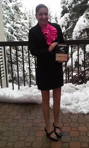 Sophia Montoya wins 3rd place in the sales category