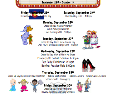 Homecoming Week Events