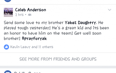 Facebook posts for Yakez Daughtry
