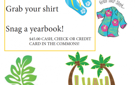 Yearbooks come out during the luau May 12