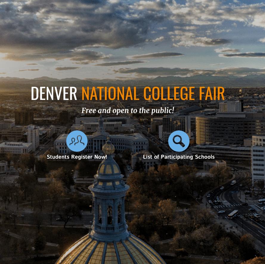 Denver national college fair logo