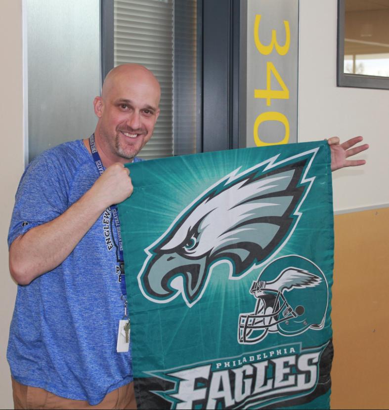 Scott+Silva+sporting+his+Eagles+memorabilia+during+his+team%27s+run+through+the+playoffs