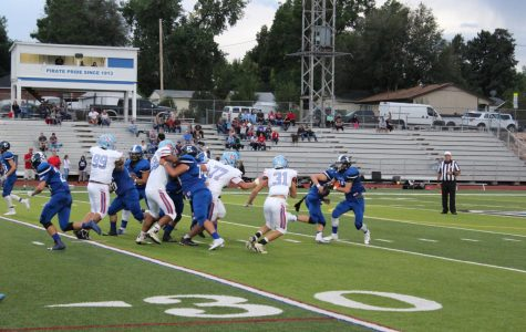 A fake run to Terryn Bacca (11) produced another touchdown for the Pirates