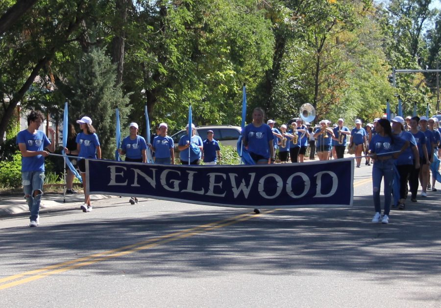 Englewood Schools parade hits its stride on a hot day