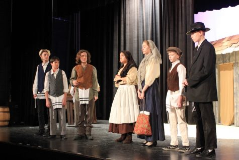 The cast of Fiddler on the Roof performed to nearly sold out crowds both nights.