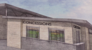Image of new buildings coming to the stadium.,