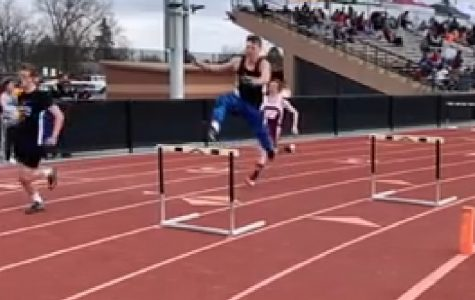 Nate Gravagno got 3rd place in the Denver South Invitational meet in the 300-meter hurdles.