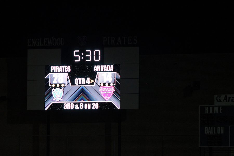 The+homecoming+football+game+had+a+huge+crowd+on+hand+to+see+the+Pirates+win+28-14+over+Arvada.+