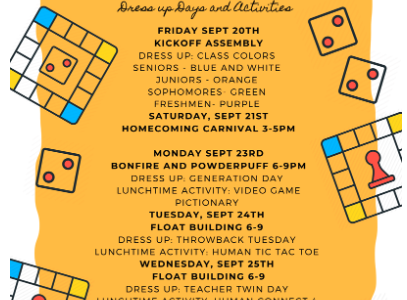 It's Homecoming! Events start this week