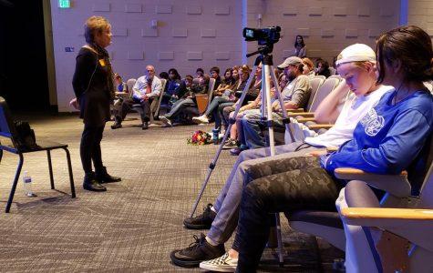Holocaust survivor speaks to students