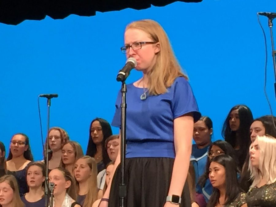 Junior Elspeth Wooldridge has been singing her entire life and is the latest in a long line of EHS choir members.