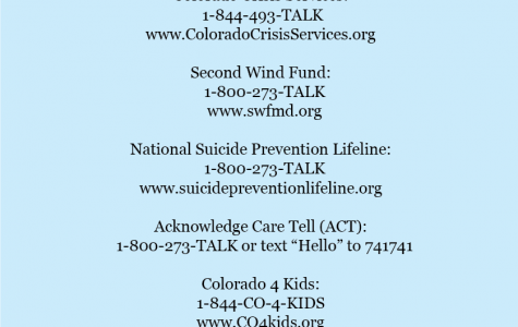 Help Lines-Provided by Counselor Dawn Cominsky