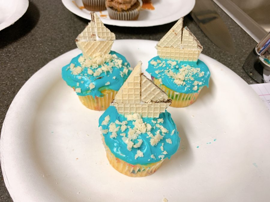 """We put a little pirate ship on top made from wafers and we sprinkled wafer crumbs in the front to make it look like sand,"" said Luis Chavez (9) who participated in the event."
