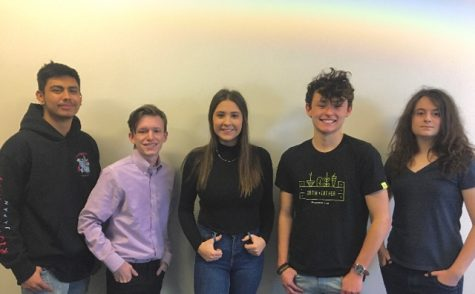 "Five EHS students went through the long process of interviewing for the opportunity to work in a paid internship at Lockheed Martin. (l-r)   Ethan Cuenca, Dylan Gruska, Deveyn Hainey, Dustin Trevino and Isabella Pellegrino, all seniors will work over the summer with an expert team, ""I think it"