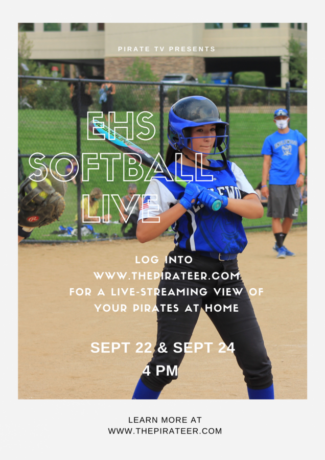 Promotion flyer for EHS live stream of two games.