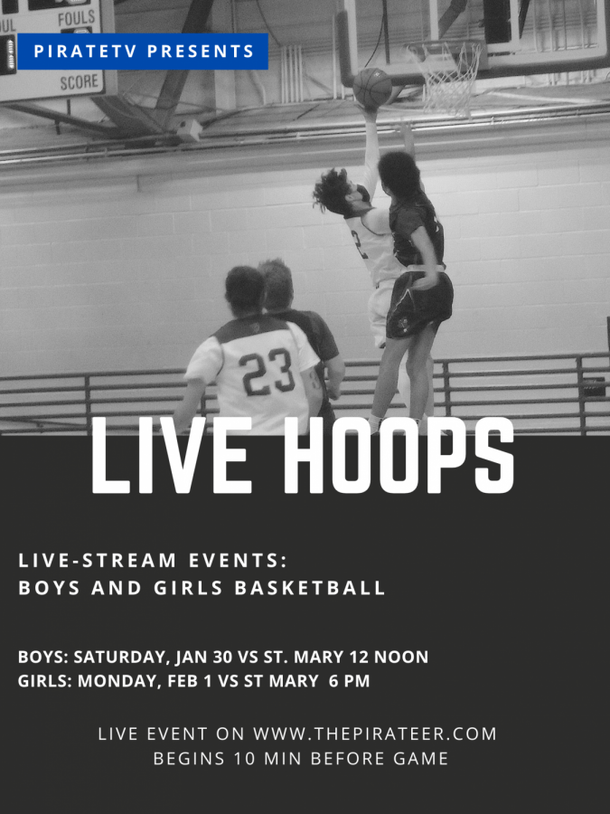 LIVE EVENT: 1/30/2021 EHS Boys basketball VS St Mary's Academy