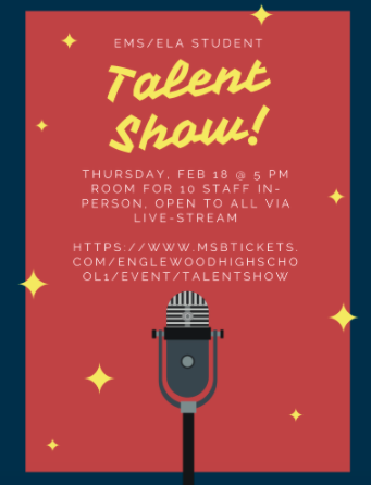 EMS/ELA Talent Show LIVE (5pm-2/18/2021)