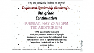 **LIVE EVENT  Englewood Leadership Academy Continuation